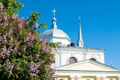 Veliky Novgorod, Russia. Medieval ancient Church of Nikita the Martyr. Veliky Novgorod, Russia. Medieval Church of Nikita the Martyr in Veliky Novgorod, Russia Royalty Free Stock Images