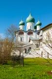 Veliky Novgorod, Russia. St Nicholas cathedral in St Nicholas Vyazhischsky female stauropegic monastery Royalty Free Stock Photo