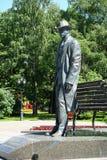 Veliky Novgorod, Russie, mai 2018 Monument au compositeur et au pianiste russes Sergei Rakhmaninov en parc de ville photo stock