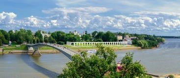Veliky Novgorod, visión desde la altura Foto de archivo