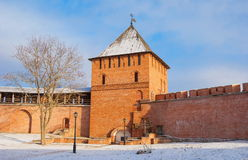 Veliky Novgorod in the winter Royalty Free Stock Images