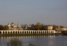 Veliky Novgorod, Yaroslav Courtyard Stock Photos