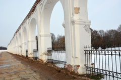 Veliky Novgorod, Yaroslav Courtyard. Royalty Free Stock Photos