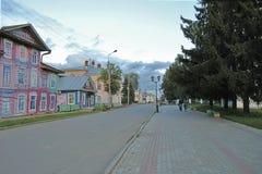 Veliky Ustyug gata Royaltyfri Fotografi