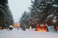 Veliky Ustyug. Hus av fadern Frost (Ded Moroz) - ryssmotsvarighet av Santa Claus. Fotografering för Bildbyråer