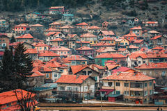 Velingrad en SPA huvudstad av Balkans i den Rhodope Mountsins Bulgarien royaltyfria bilder