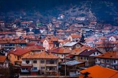 Velingrad en SPA huvudstad av Balkans i den Rhodope Mountsins Bulgarien royaltyfri bild