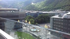 Velinos do la de Andorra - o capital o capital escondido nos Pyrenees imagens de stock royalty free