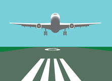 Velivoli di atterraggio illustrazione di stock