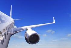 Velivoli di passeggero durante il volo Fotografie Stock