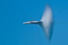 Velivoli eccellenti del calabrone del Boeing F/A-18F Fotografia Stock