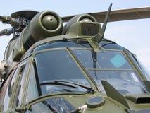 Velivoli - primo piano militare dell'elicottero Fotografie Stock