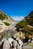 Velka slovacco Studena Dolina Tatra immagini stock
