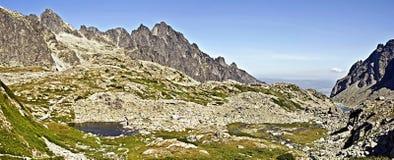 Velka Studena在高Tatras的dolina谷 免版税库存照片