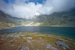 Velke Hincovo pleso in High Tatras Royalty Free Stock Photography