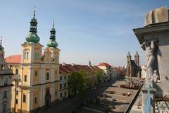 Velke namesti square in Hradec Kralove Stock Photos