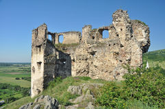 Velky Kamenec castle ruins Royalty Free Stock Photography