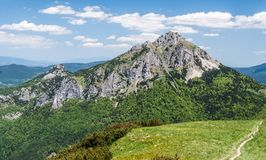Velky and Maly Rozsutec hills in Mala Fatra mountains in Slovakia stock photo