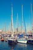 vell barcelona гаван Испании Стоковая Фотография RF