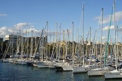vell för barcelona marinaport Arkivbild