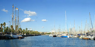 vell för barcelona marinaport royaltyfri foto