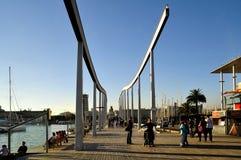 vell för barcelona marinaport Royaltyfri Fotografi