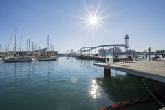 Vell Port, Maremagnum. Barcelona, Spain Stock Photos