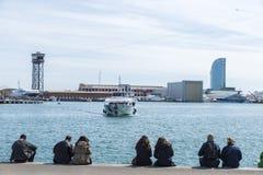Vell portuário, Barcelona Imagem de Stock Royalty Free