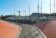 Vell portuário em Barcelona. Imagem de Stock Royalty Free