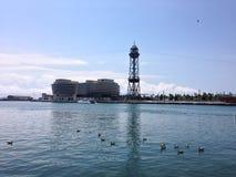 Vell portuario, Barcelona Imagen de archivo libre de regalías