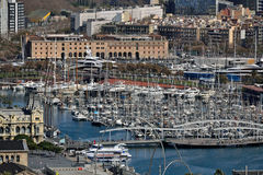 Vell portuario, Barcelona Imágenes de archivo libres de regalías