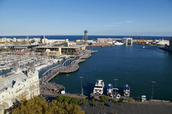 Vell portuario en Barcelona fotografía de archivo
