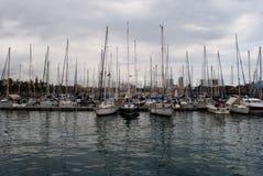 Vell portuario en Barcelona Foto de archivo libre de regalías