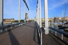 Vell portuario en Barcelona, España Imagen de archivo libre de regalías