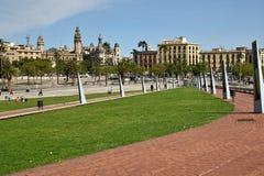 Vell portuario en Barcelona, España Imagen de archivo