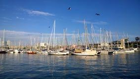 Vell portuario en Barcelona, España Imagenes de archivo