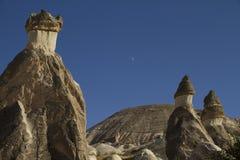 Velley Zelve在Cappadocia土耳其 免版税库存图片