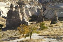 Velley Zelve i Cappadocia Turkiet Arkivfoton