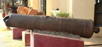 vellore堡垒年迈的大炮  免版税库存照片