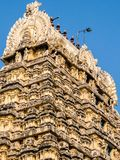 View of Sri Jalakandeswarar Temple in Vellore. Vellore, India - Circa January, 2018. View of Sri Jalakandeswarar Temple in Vellore stock photo