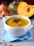 Vellutata Di zucca - σούπα κολοκύθας Στοκ Εικόνες