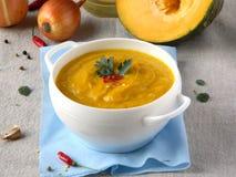 Vellutata di zucca - pumpkin soup Stock Photography