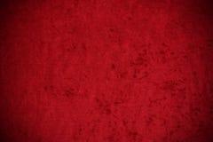 Velluto: Fondo rosso schiacciato del velluto Immagine Stock