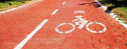 Velo and Bike road. Pathway with icon Stock Image
