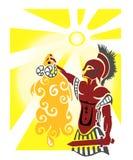Velo dourado ilustração royalty free