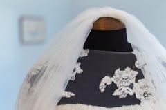 Velo nuziale di nozze Fotografie Stock Libere da Diritti
