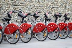 Velo'v stations. Details of  Velo'v, Grand Lyon offers you an innovative new bike service. Bike rental for greener transport Royalty Free Stock Images