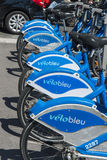 Velobleu Bike rental detail Promenade du Paillon Nice stock images