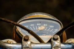 Velocímetro análogo da motocicleta do japonês do vintage foto de stock royalty free