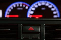 Velocímetro com botão da emergência Foto de Stock Royalty Free